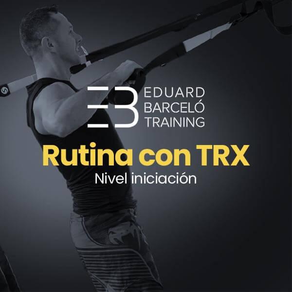 Rutina de entrenamiento con TRX